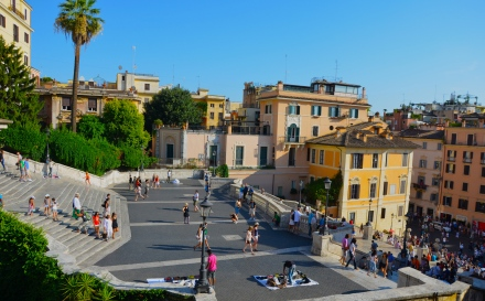 view of the Spanish steps